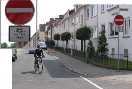 Az egyirányú utcákban szemben is lehet biciklizni