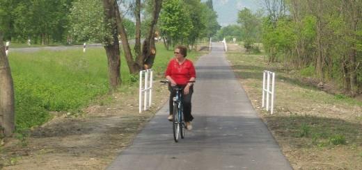 Na, végre egy kerékpáros