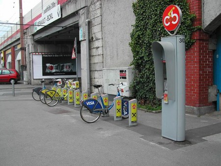 Kölcsönbringa rendszer Bécsben - forrás: http://wien24per7.blog.hu