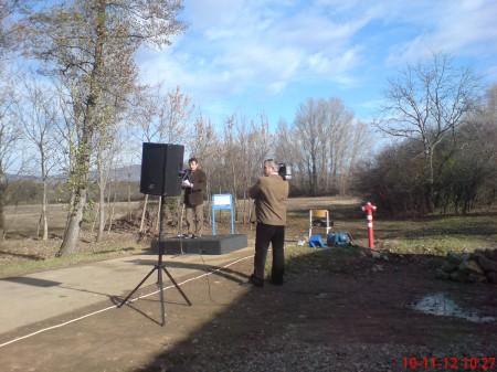 A polgármesteri beszéd. 200 méterre már áll az alap