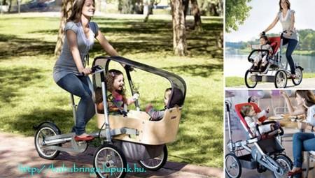Gyerekkel kereékpározni igenis presztízs!