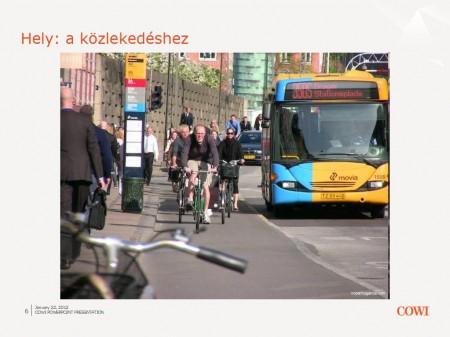 Hely a közlekedeshez. Fotó: Mikael-Colville Andersen, copenhagize.com